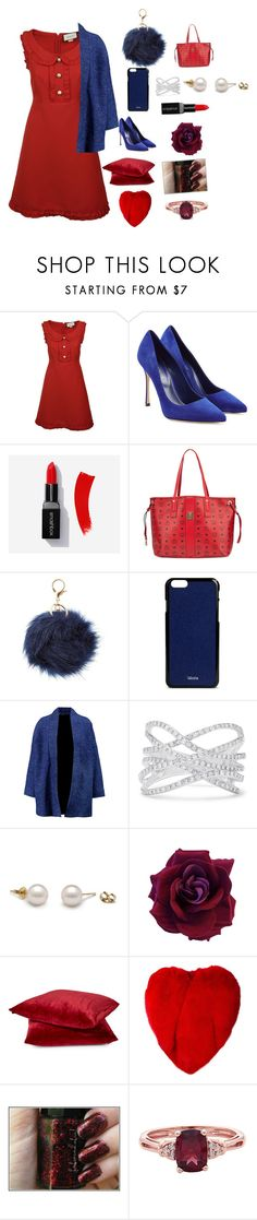 """""""#rockthevote"""" by willow-sage ❤ liked on Polyvore featuring Gucci, Sergio Rossi, MCM, Charlotte Russe, Valextra, Maje, Effy Jewelry, Yves Saint Laurent and rwb"""