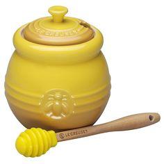 Le Creuset Stoneware 16-Ounce Honey Pot, Dijon.  I want one!