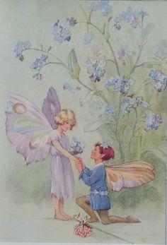 Fairies Forget Me Not Fairy Vintage Print Margaret Tarrant 1936 Childs Nursery | eBay