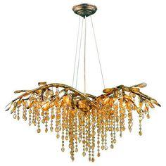 Fair Gold Crystal Chandelier