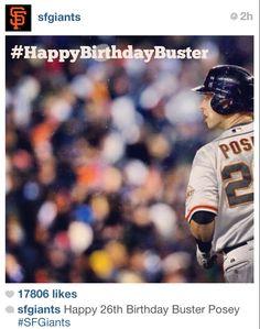 03/27/13 - Happy Birthday Buster Posey via SF  Giants Instagram