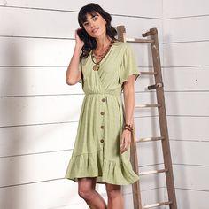 Briar Fields Button Dress - Cowgirl Delight
