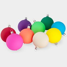 Vintage Ball Ornaments Assorted Fluorescent