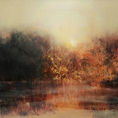 ARTFINDER: Across The Lake by Maurice Sapiro - oil painting on cradled panel, edge framed with Red Oak veneer