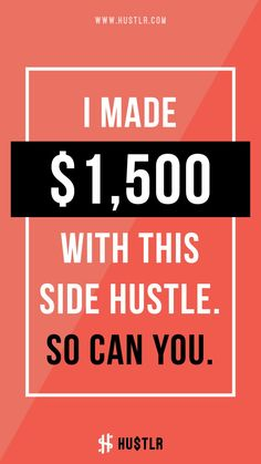 Think of side hustle as a way to pursue your passion. It can be something as simple as writing during your free time, to playing games (without going pro).  #makemoneyonline #makemoneyfast #onlinebusiness #hustlr #hustler #hustle #womenhustler #entrepreneurs #onlineentrepreneur #woman #hustle #grinding #socialmedia #instagram #facebook #snapchat