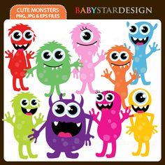 Cute Monsters - Cliparts - Mygrafico.com