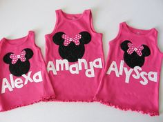 minnie mouse tanks - so cute for those PhotoPass pictures! MouseTalesTravel.com