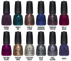 Chalkboard Nails News: China Glaze Autumn Nights Collection