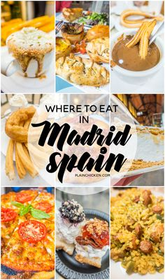 Where to eat in Madrid Spain - the best paella, churros and chocolate, and tapas. Some hidden gems that you must add to you list!