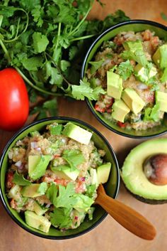 Avocado Amaranth Israeli Salad Maybe with quinoa instead? Either way, looks delicious enough for me! ~AFictionalCharacter