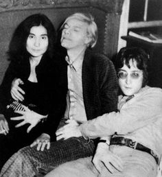 Andy Warhol with Yoko Ono and John Lennon