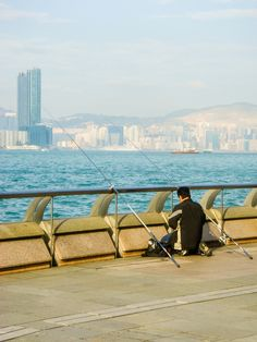 Fishing on Hong Kong Island