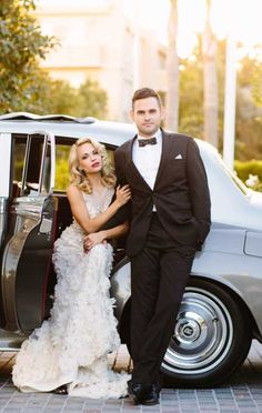 Shot at the Mr. C Beverly Hills hotel.  Photographed by Brian Leahy Photography. Styled by Leslie Kaplan of Encore Events.  With the beautiful Dani Mathers as the model bride.  http://www.classychassisrentals.com/