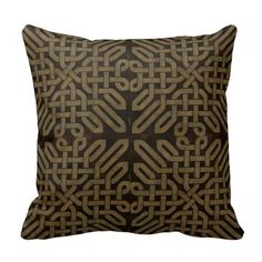 Light Leather Look Celtic Knot Pillow