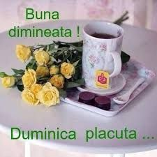Imagini pentru buna dimineata duminica Good Morning, Happy Birthday, Tableware, Bob, Sunday, Weddings, Facebook, Design, Decor