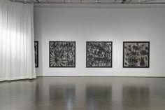 Black On White by John Massey at La Biennale de Montréal 2014. Photo: Guy L'Heureux/La Biennale de Montréal