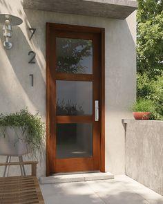 Contemporary Modern Exterior, Interior door by US Door & More Inc in Single Door made of Wood and the grain is Mahogany Contemporary Front Doors, Modern Door, Modern Exterior, Interior And Exterior, French Doors Patio, Patio Doors, Entry Doors, Door Design, House Design
