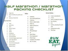 Packing for a Destination Marathon or Half Marathon