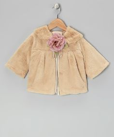 Love this Kid's Dream Gold Rose Faux Fur Jacket - Kids by Kid's Dream on #zulily! #zulilyfinds