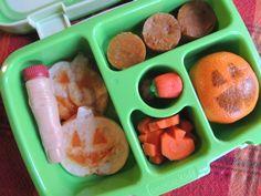 Bento Bentgo Kids School Lunch Ideas Halloween Week (+Monday :P) 10/24/16 For the Love of Pumpkins Pumpkin Quesadillas Pumpkin Pie Bites Pumpkin Carrots Pumpkin Cutie Pumpkin Candies Reeses Pieces in the finger :P