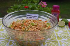 Saras madunivers: Lækker Nudelsalat med grønt og peanuts
