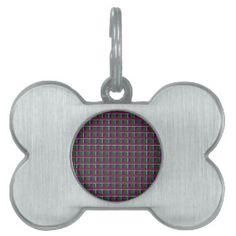 Elegant LOW PRICE Checks Holy Purple Greetings FUN Pet ID Tags