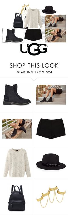 """""""The New Classics With UGG: Contest Entry"""" by dreamharder ❤ liked on Polyvore featuring UGG, L'Agence, Nolita, Karl Lagerfeld and House of Harlow 1960"""
