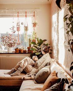 Living Spaces, Living Room, House Goals, Bedroom Decor, Bedroom Ideas, New Room, Hippy, Scandinavian Design, Exterior Design