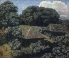 Летний пейзаж с избами, 1920