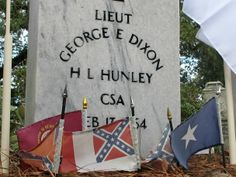 "George E. Dixon - Civil War Confederate Army Officer. He was commander of the last crew of the Confederate submarine, ""HL Hunley"", when it sank 4 miles off the coast of Sullivans Island (Charleston), South Carolina, on February 17, 1864, after sinking the USS Housatonic."