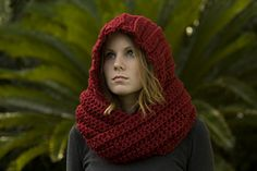 Ravelry: Hooded Scarf, Scoodie pattern by Melissa Grice