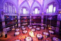 The Octagon Library at Queen Mary University set up for a wedding
