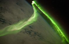 Aurora Australis seen above the Earth in this image taken by a member of the ISS Expedition 23 crew on May 29, 2010.
