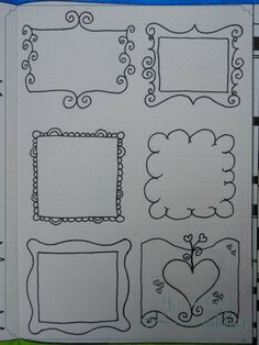 Banners, borders and frames - [Journaling Addict] - Bullet Journal Bullet Journal Aesthetic, Bullet Journal Ideas Pages, My Journal, Bullet Journal Inspiration, Journal Pages, Bullet Journal Frames, Banners, Doodles, Borders And Frames