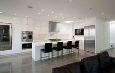 White Modern Kitchen Design Ideas, Pictures, Remodel, and Decor