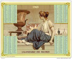 Calendario dei ricordi anno 1965