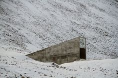 Svalbard Seed Vault---Spitsbergen, Norway  In the event of complete agricultural collapse, our only hope lies in the many tiny new beginnings locked up in Svalbard Seed Vault—a file-cabinet-shaped fortress embedded in an icy Norwegian archipelago. To get there, you must cross the Arctic Ocean—a journey that doubles as good preparation for the type of apocalypse that would result from complete agricultural collapse. Win/win.