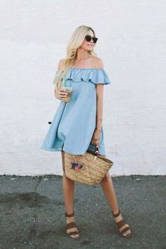 Cutest chambray dress for spring