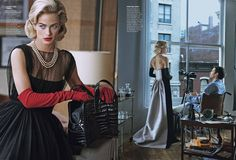 Window Dressing, Peter Lindbergh | Tobey Maguire, Carolyn Murphy, American Vogue 2013 | Grace Coddington, Didier Malige, Stéphane Marais | New York