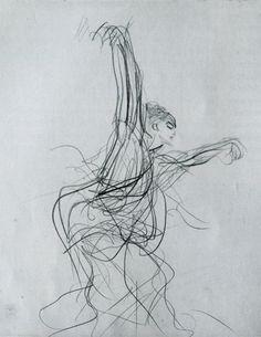 "John Singer Sargent, Sketch of a Spanish Dancer, 1879  Pencil on paper, 11 1/2 x 9 ""  (Gardner Museum, Boston)"