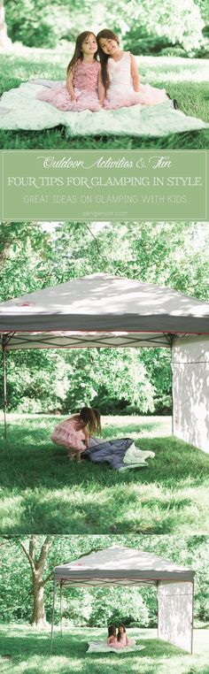 Great ideas on how to have a first camping trip for your littles! Take the kids glamping to get them acquainted slowly to the wonders of camping. #glamping #ad @ColemanUSA @Target