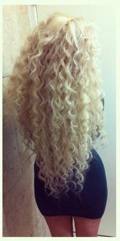 Platinum blonde curls!! Xoxo
