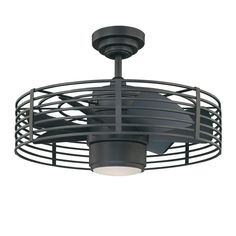 Designers Choice Collection Enclave 23 in. Natural Iron Ceiling Fan