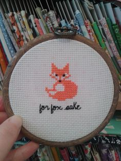 for fox sake cross stitch pattern free - Google Search