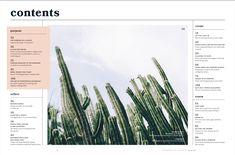 Magazine Layout Design, Editorial Design, Cactus Plants, Cacti, Cactus, Editorial Layout