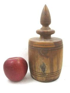 "Antique Southern Yellow Pine 10"" Spice Box or Tea Caddy Treen Folk Art Primitive | eBay"