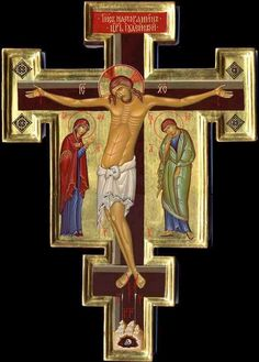 Byzantine Icons Holy Savior: The Crucifixion of the Lord Jesus-Christ