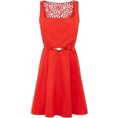 OASIS Florence Skater Dress ($105) ❤ liked on Polyvore
