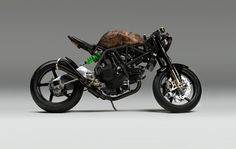NCR Ducati Monster custom with faux wood paintjob