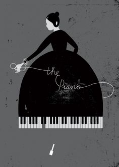 Inspiration | Minimal Piano Lady Poster By Karolin Schnoor
